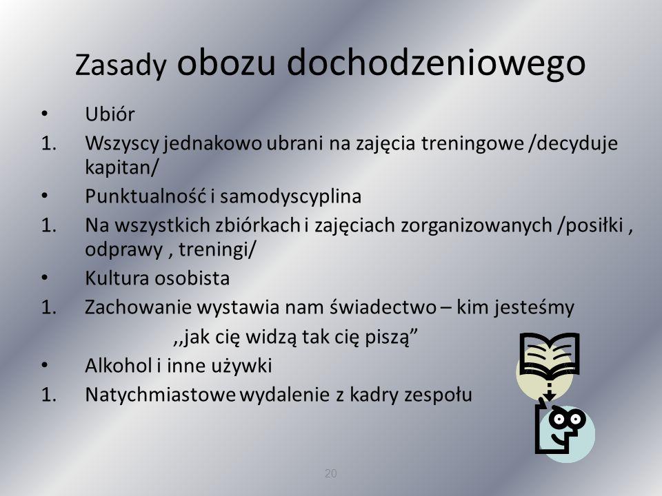 Zasady obozu dochodzeniowego