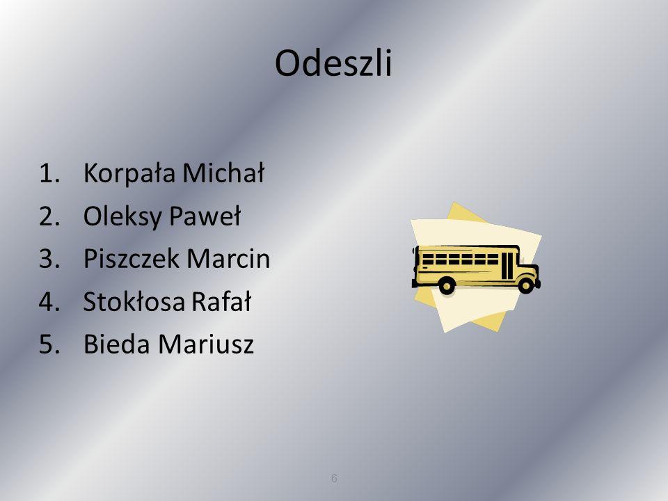 Odeszli Korpała Michał Oleksy Paweł Piszczek Marcin Stokłosa Rafał