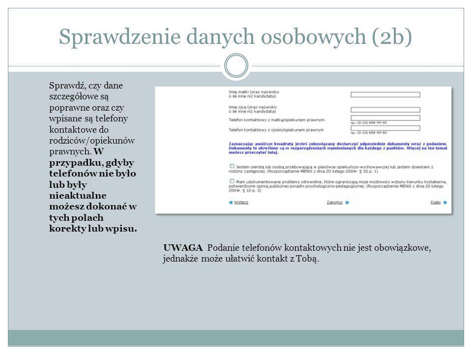 Sprawdzenie danych osobowych (2b)