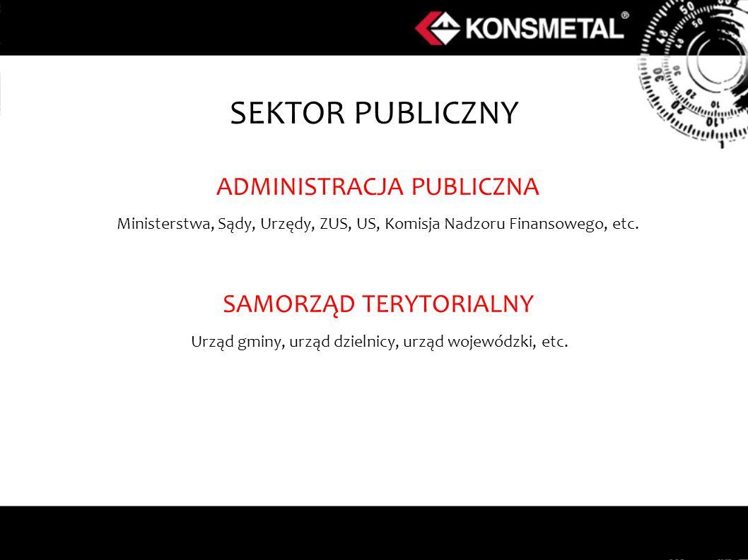 SEKTOR PUBLICZNY ADMINISTRACJA PUBLICZNA SAMORZĄD TERYTORIALNY