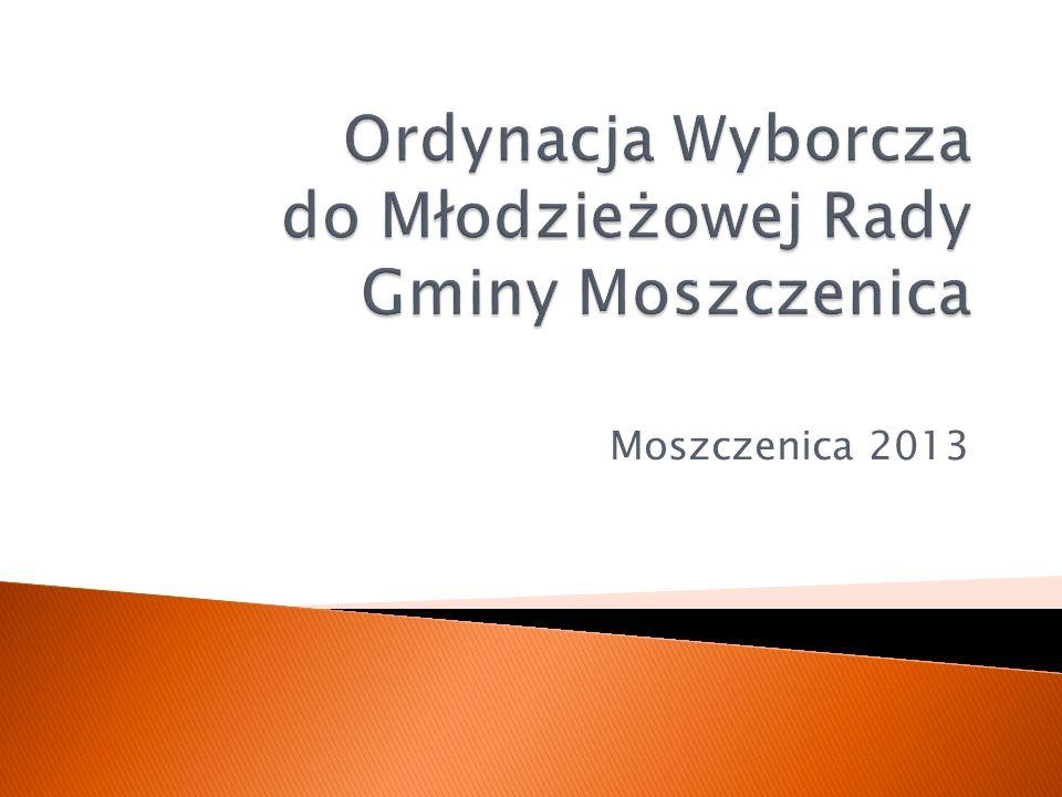 Ordynacja Wyborcza do Młodzieżowej Rady Gminy Moszczenica