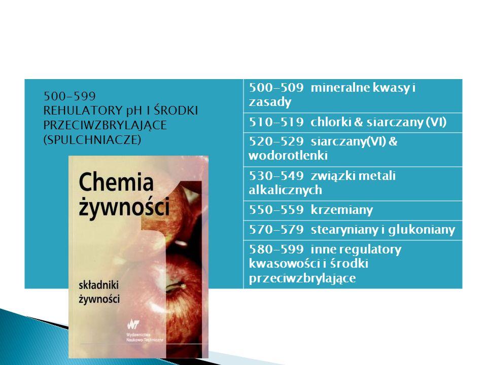 500-509 mineralne kwasy i zasady