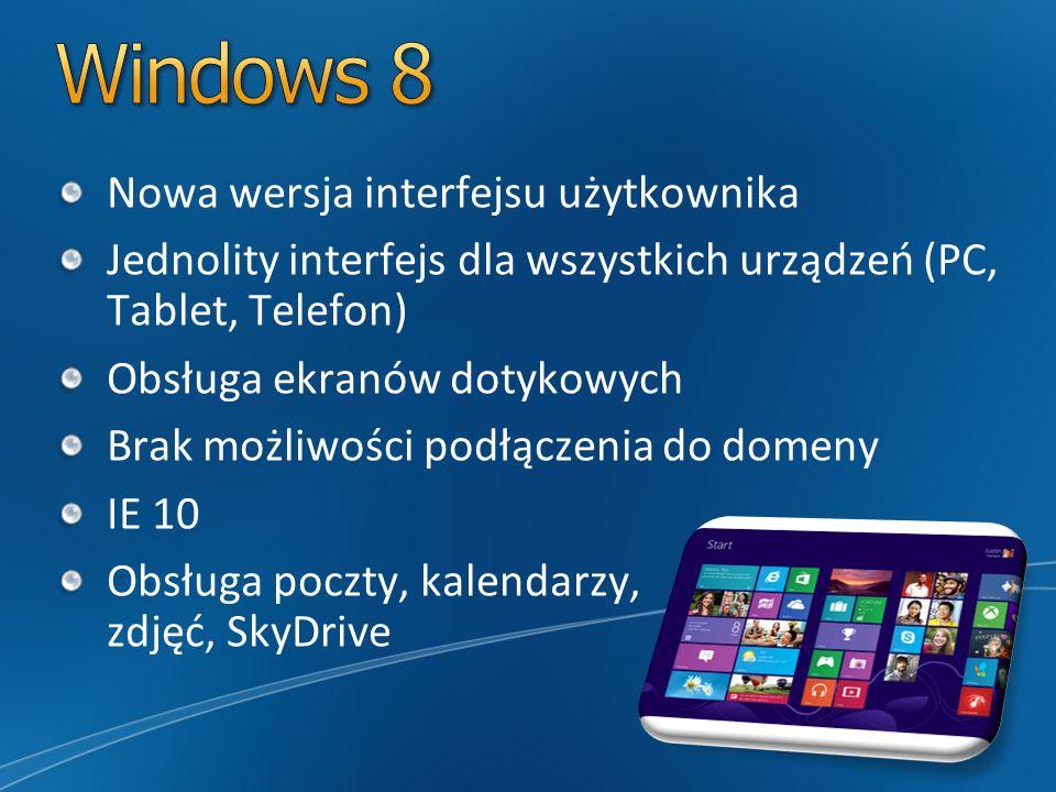 Windows 8 Nowa wersja interfejsu użytkownika