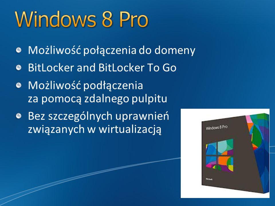 Windows 8 Pro Możliwość połączenia do domeny