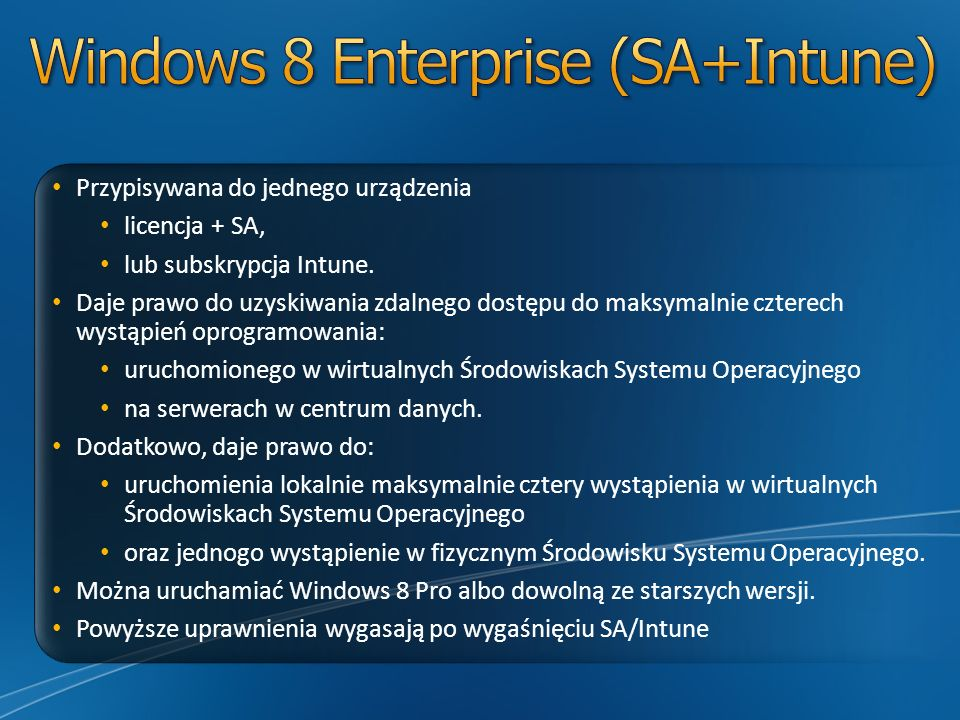 Windows 8 Enterprise (SA+Intune)