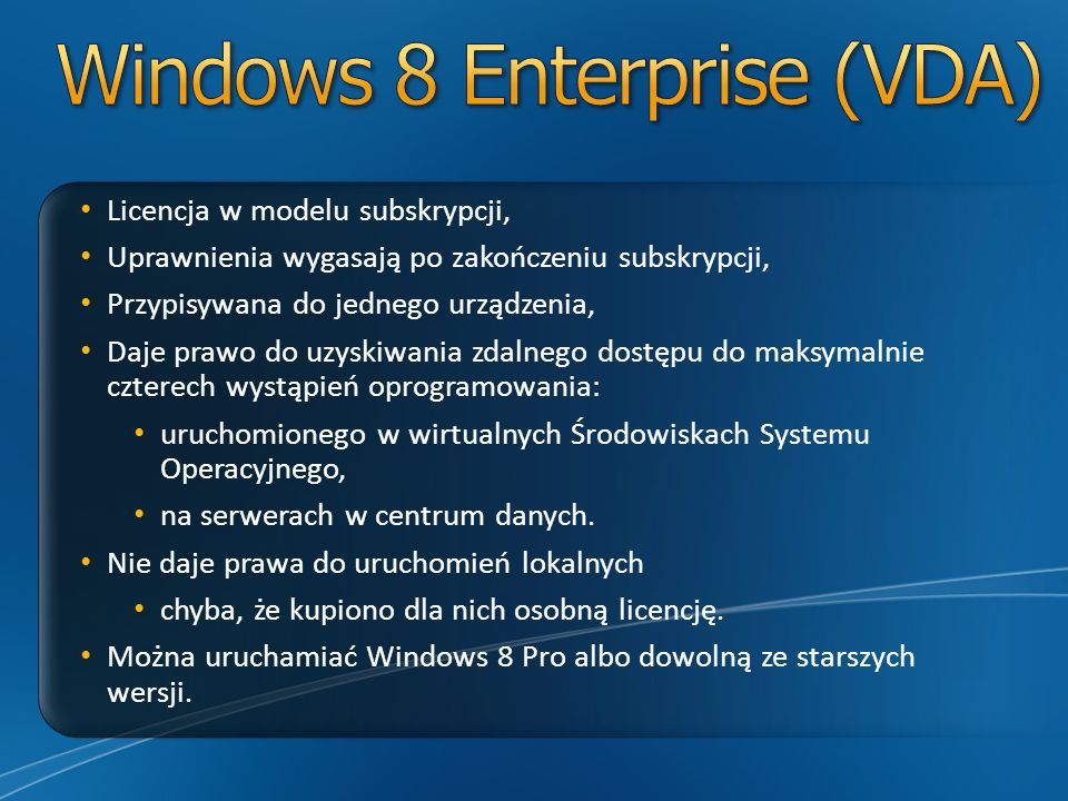 Windows 8 Enterprise (VDA)