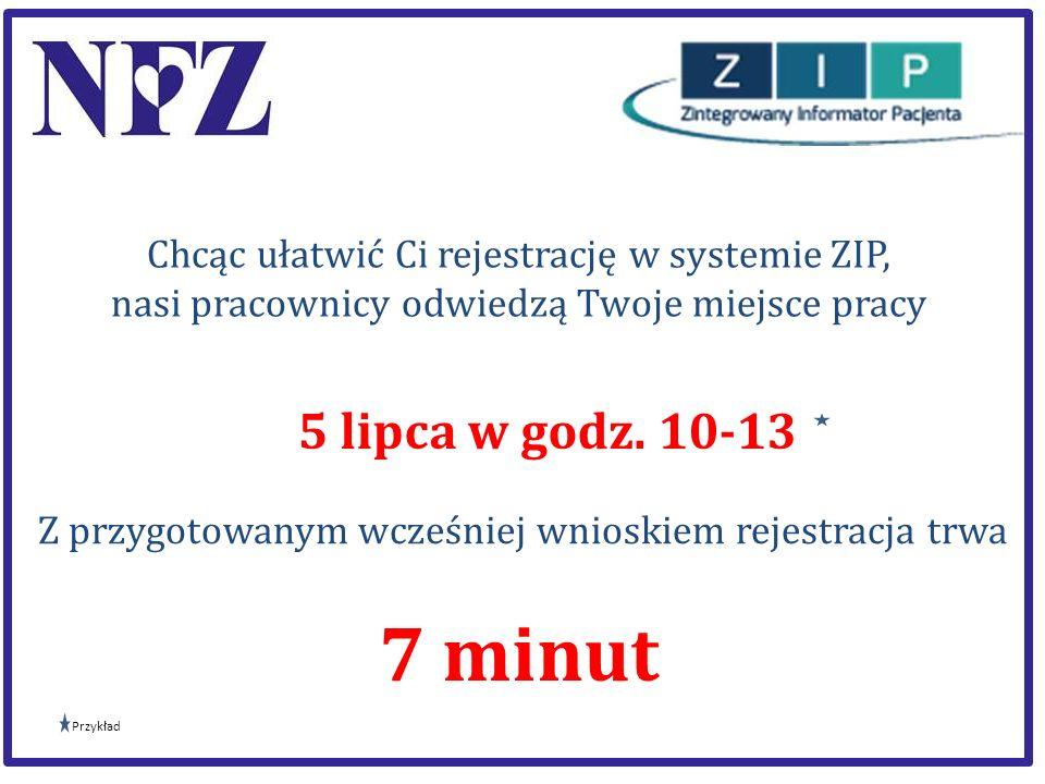 Chcąc ułatwić Ci rejestrację w systemie ZIP,
