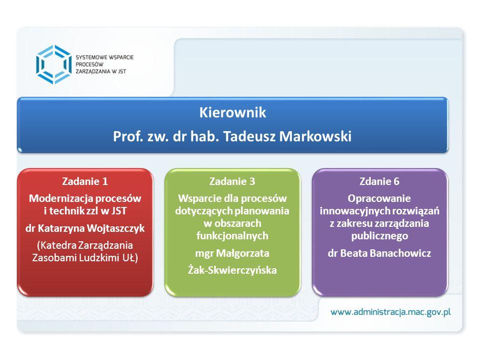 Kierownik Prof. zw. dr hab. Tadeusz Markowski