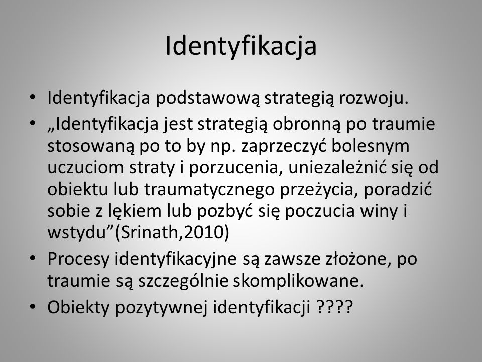 Identyfikacja Identyfikacja podstawową strategią rozwoju.