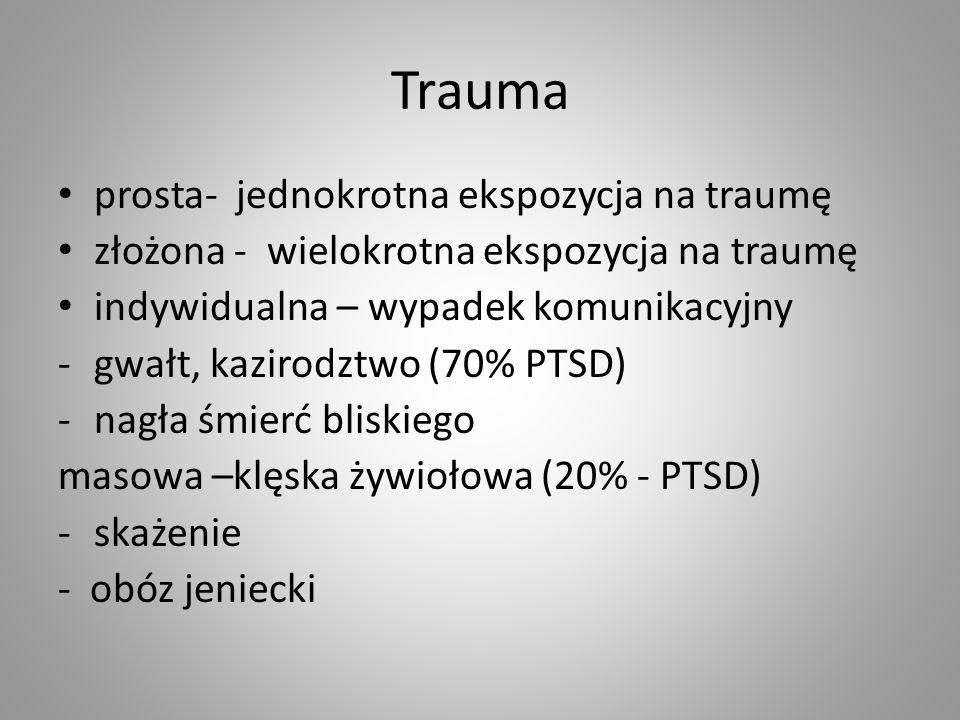 Trauma prosta- jednokrotna ekspozycja na traumę