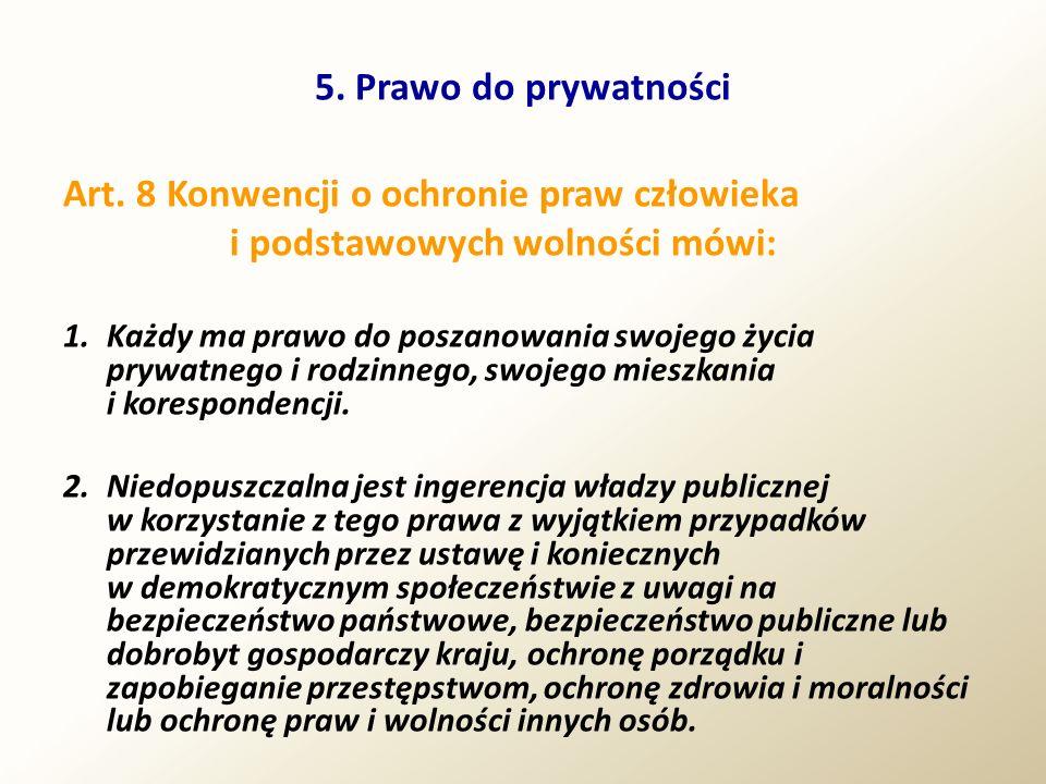 Art. 8 Konwencji o ochronie praw człowieka