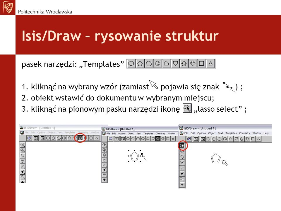 Isis/Draw – rysowanie struktur