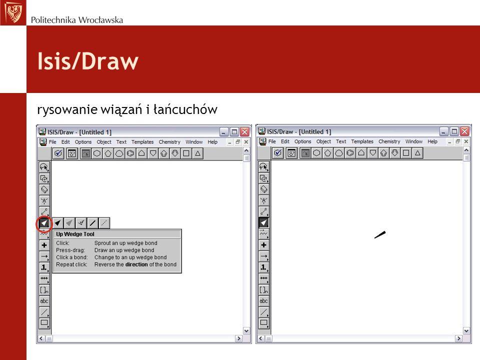Isis/Draw rysowanie wiązań i łańcuchów