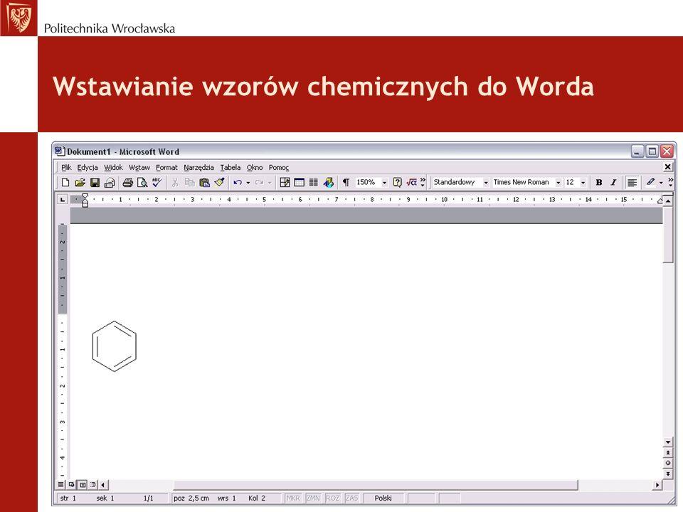 Wstawianie wzorów chemicznych do Worda