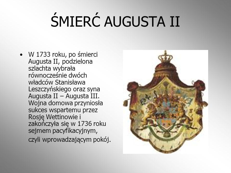 ŚMIERĆ AUGUSTA II