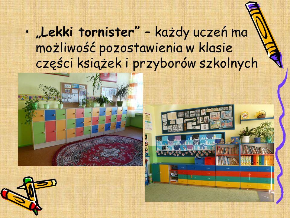 """""""Lekki tornister – każdy uczeń ma możliwość pozostawienia w klasie części książek i przyborów szkolnych"""