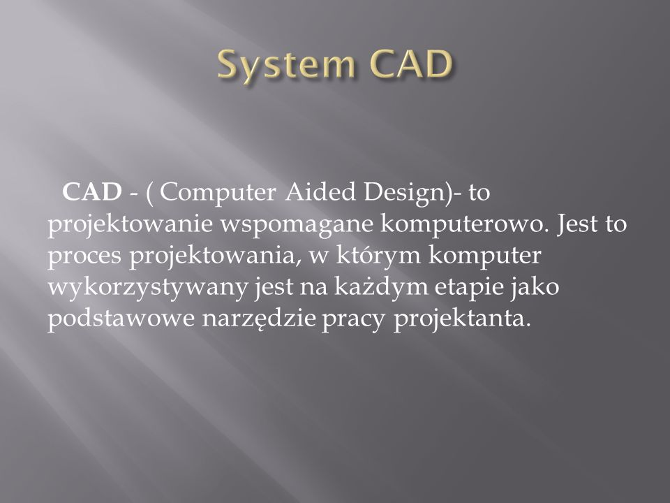System CAD