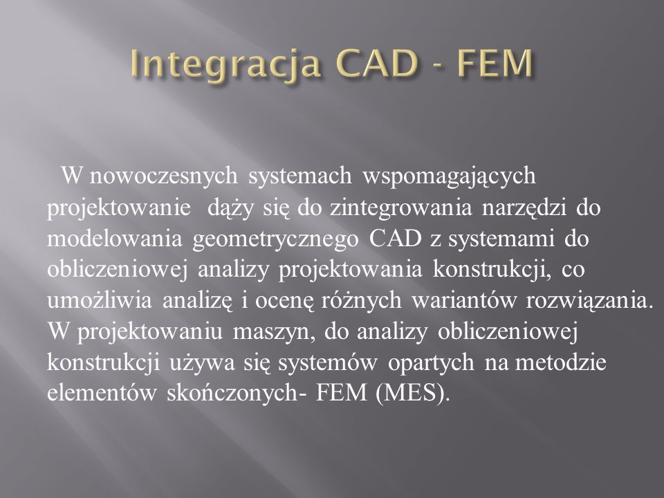 Integracja CAD - FEM