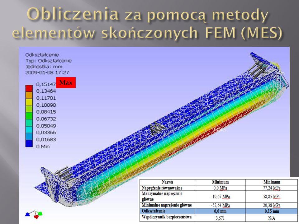 Obliczenia za pomocą metody elementów skończonych FEM (MES)