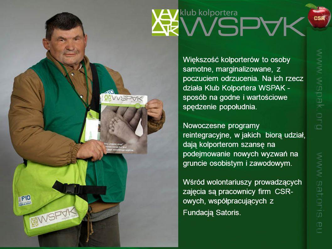 Większość kolporterów to osoby samotne, marginalizowane, z poczuciem odrzucenia. Na ich rzecz działa Klub Kolportera WSPAK - sposób na godne i wartościowe spędzenie popołudnia.
