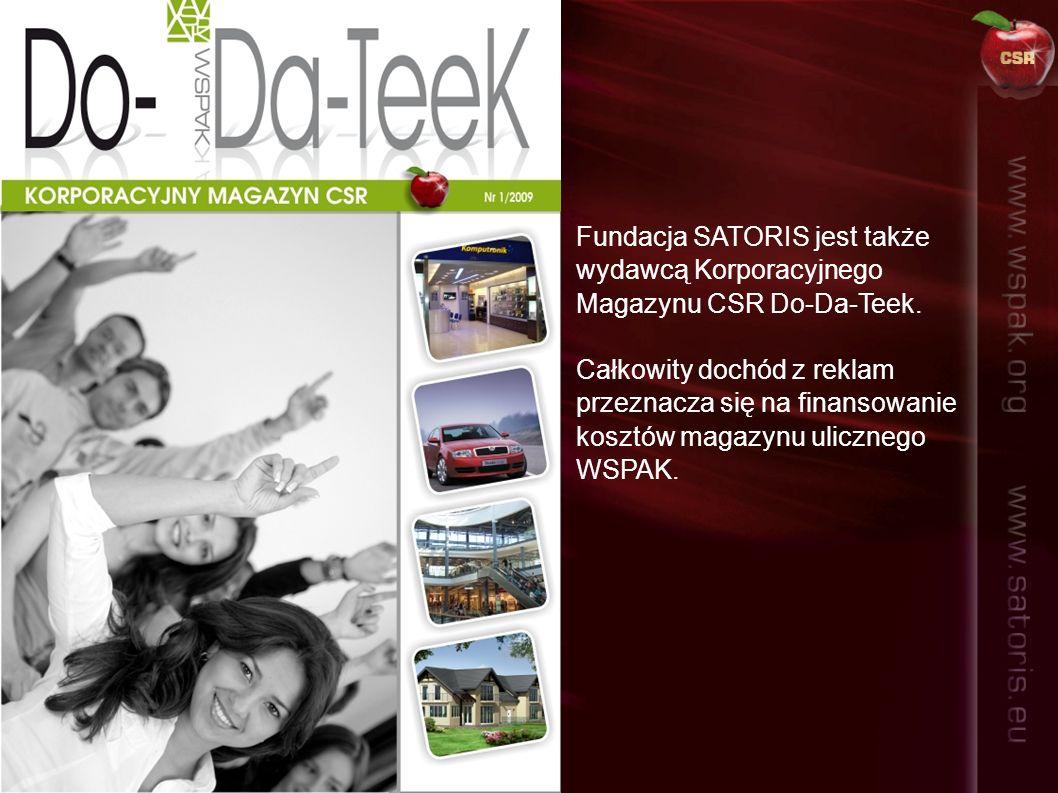 Fundacja SATORIS jest także wydawcą Korporacyjnego Magazynu CSR Do-Da-Teek.