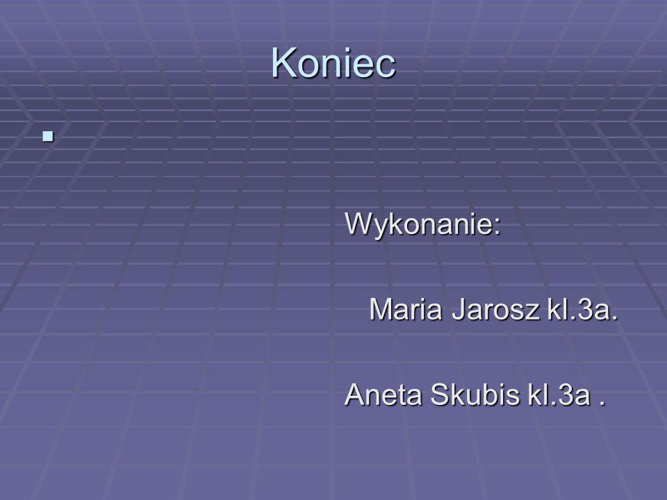 Koniec Wykonanie: Maria Jarosz kl.3a. Aneta Skubis kl.3a .