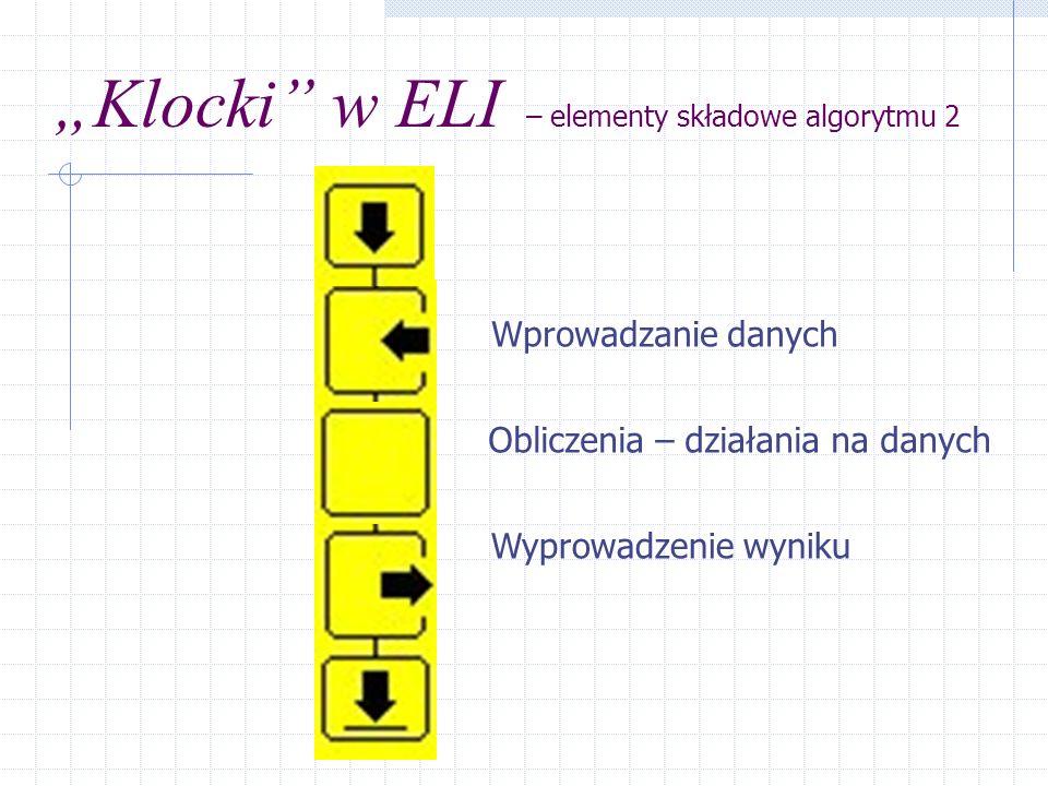 """""""Klocki w ELI – elementy składowe algorytmu 2"""