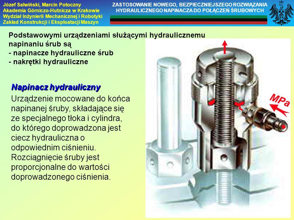 Napinacz hydrauliczny