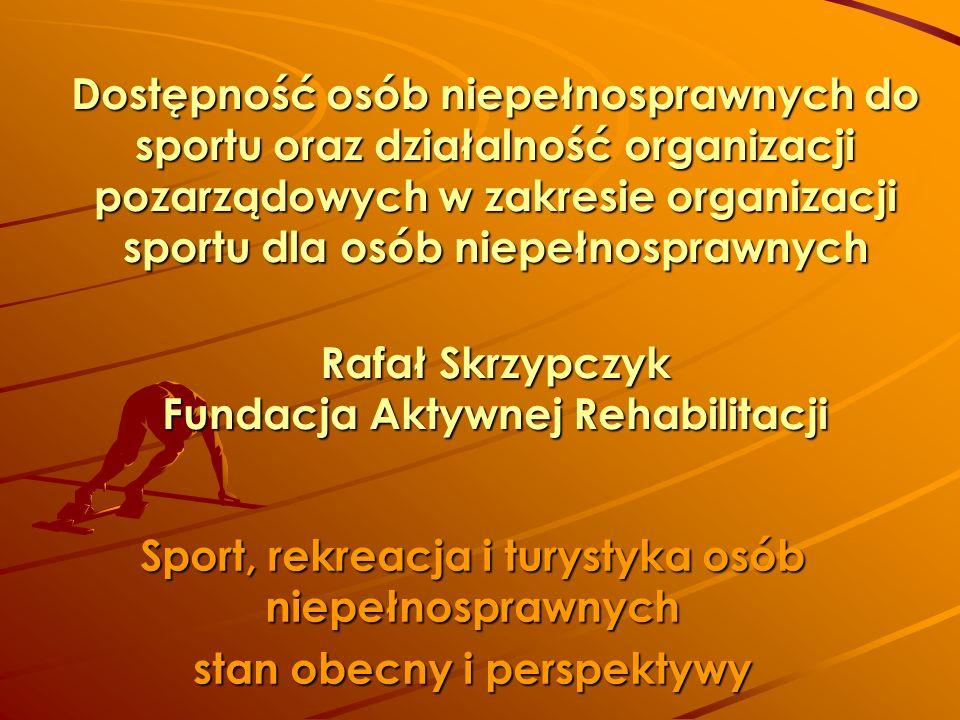 Sport, rekreacja i turystyka osób niepełnosprawnych