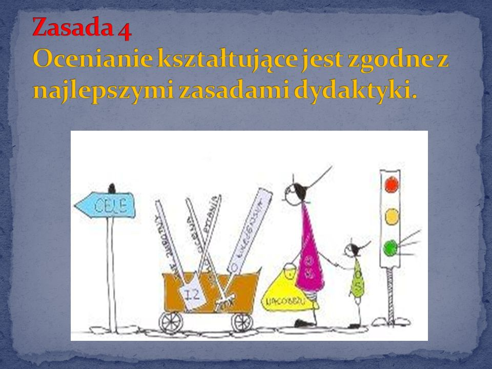 Zasada 4 Ocenianie kształtujące jest zgodne z najlepszymi zasadami dydaktyki.
