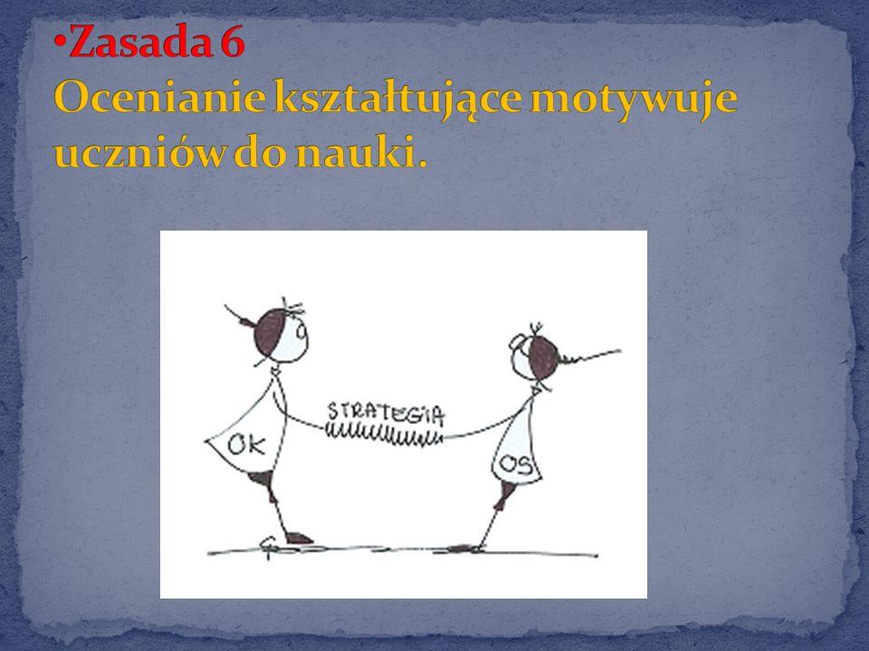 Zasada 6 Ocenianie kształtujące motywuje uczniów do nauki.