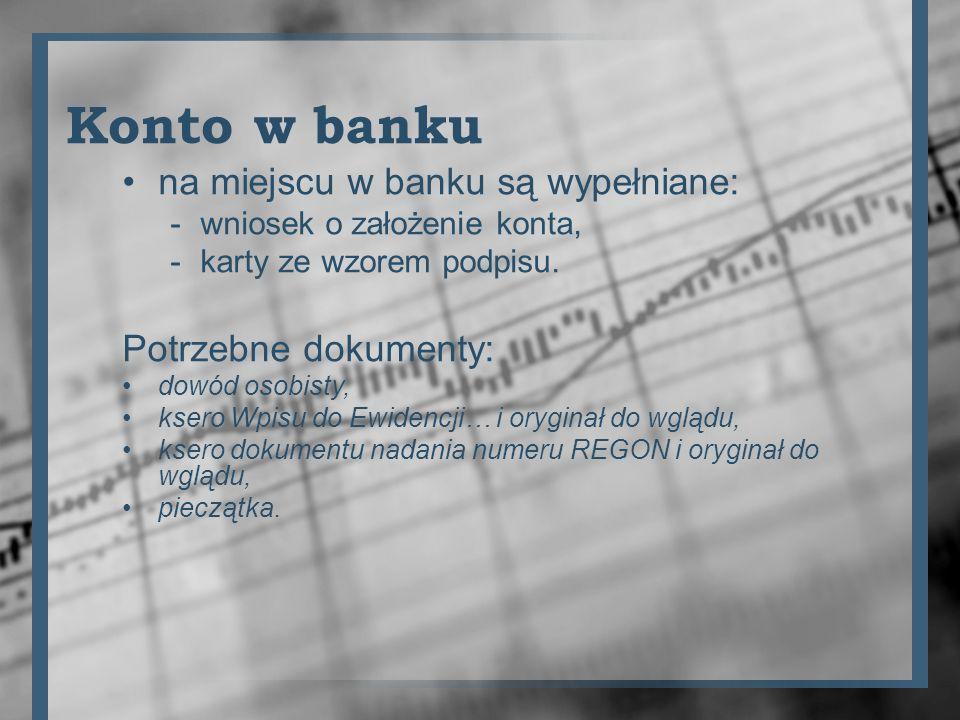 Konto w banku na miejscu w banku są wypełniane: Potrzebne dokumenty: