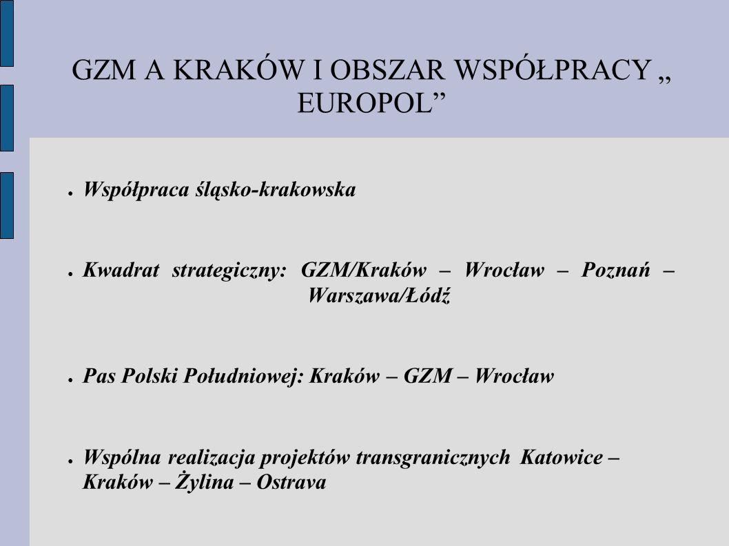 """GZM A KRAKÓW I OBSZAR WSPÓŁPRACY """" EUROPOL"""