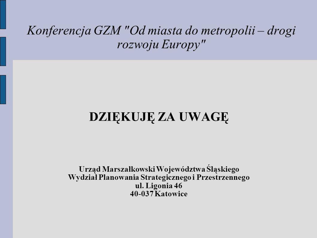 Konferencja GZM Od miasta do metropolii – drogi rozwoju Europy