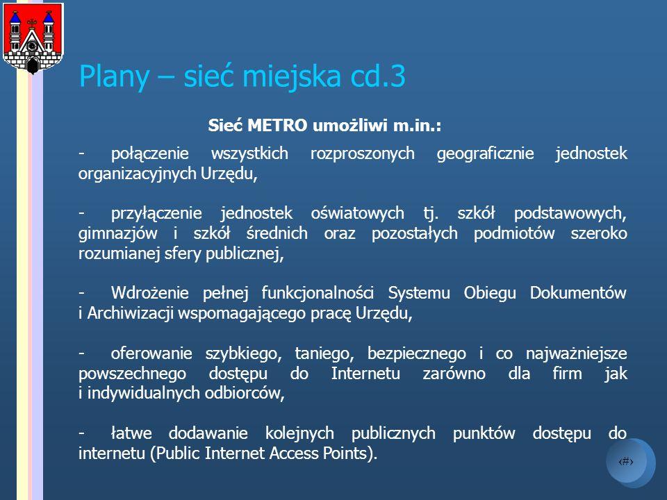 Sieć METRO umożliwi m.in.: