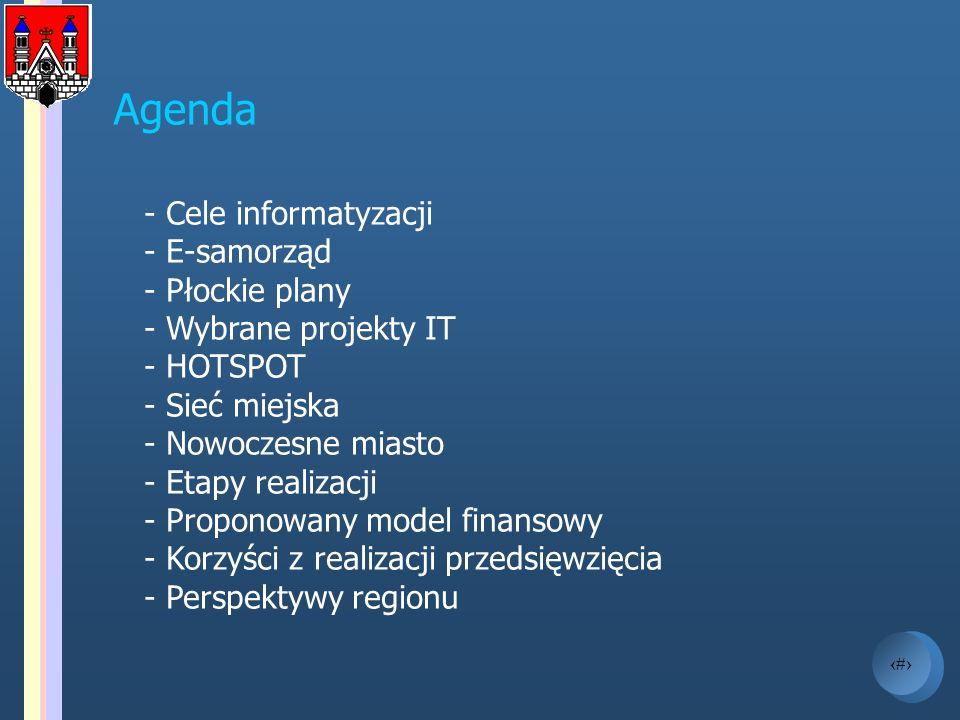 Agenda - Cele informatyzacji E-samorząd Płockie plany