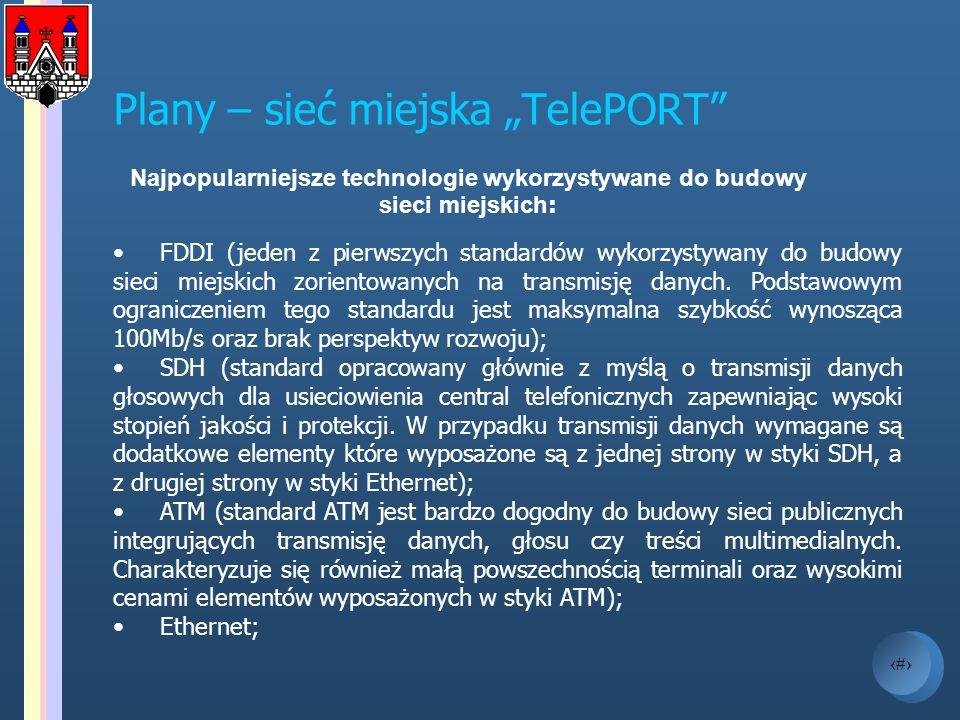 """Plany – sieć miejska """"TelePORT"""