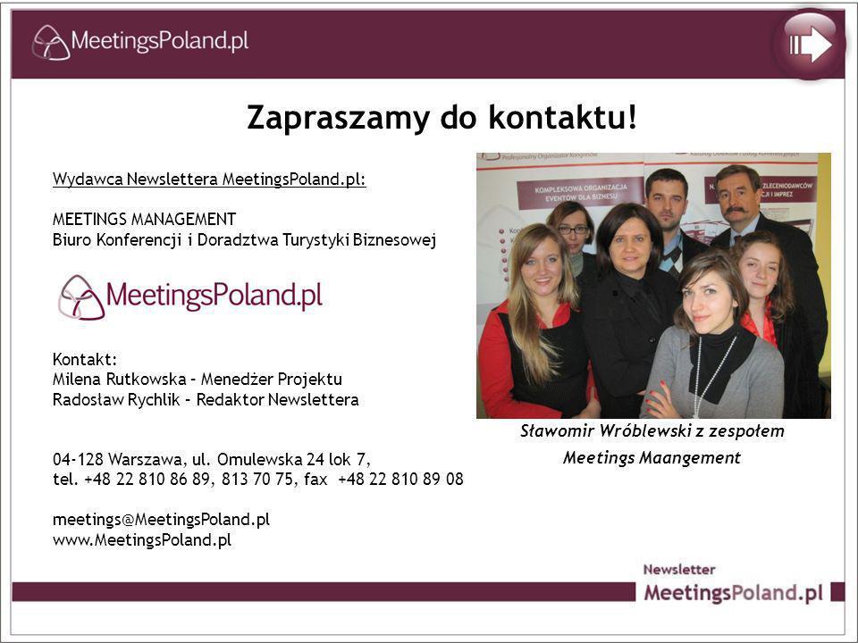 Zapraszamy do kontaktu! Sławomir Wróblewski z zespołem
