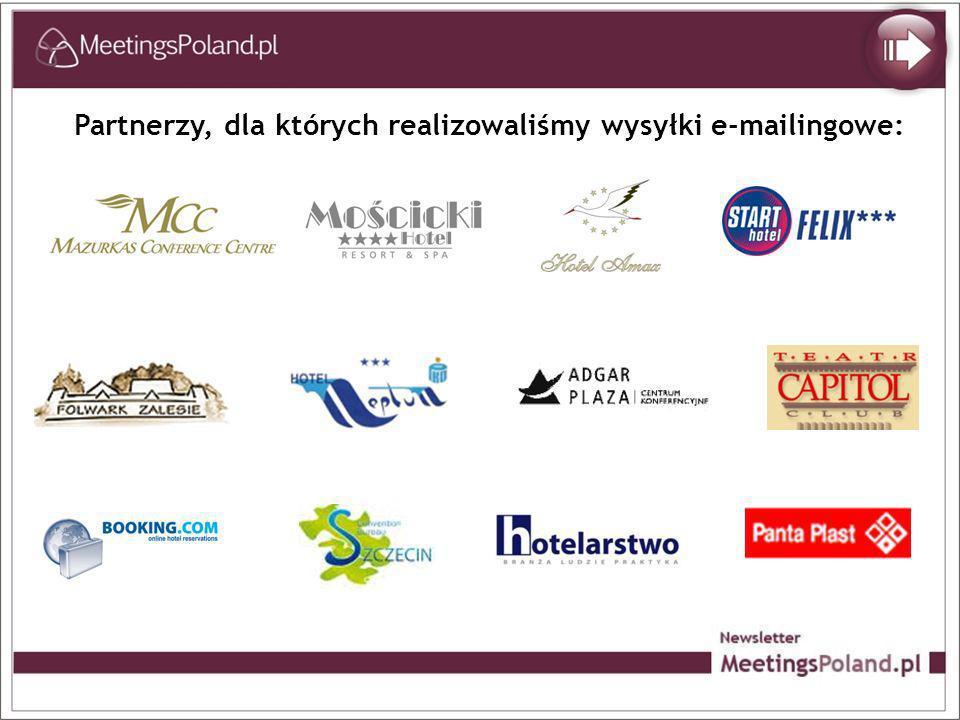 Partnerzy, dla których realizowaliśmy wysyłki e-mailingowe: