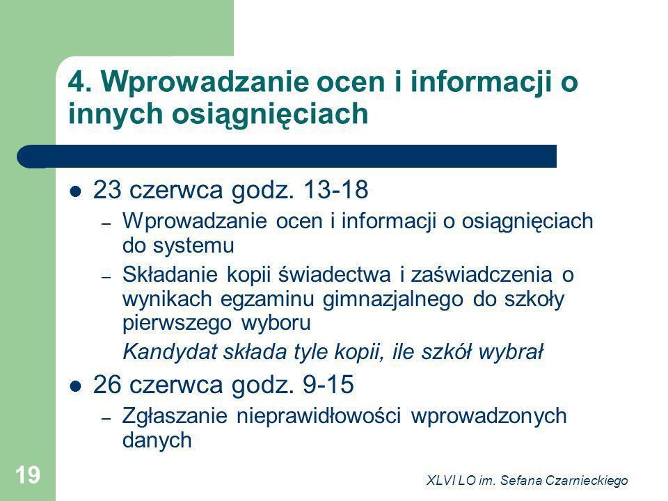 4. Wprowadzanie ocen i informacji o innych osiągnięciach