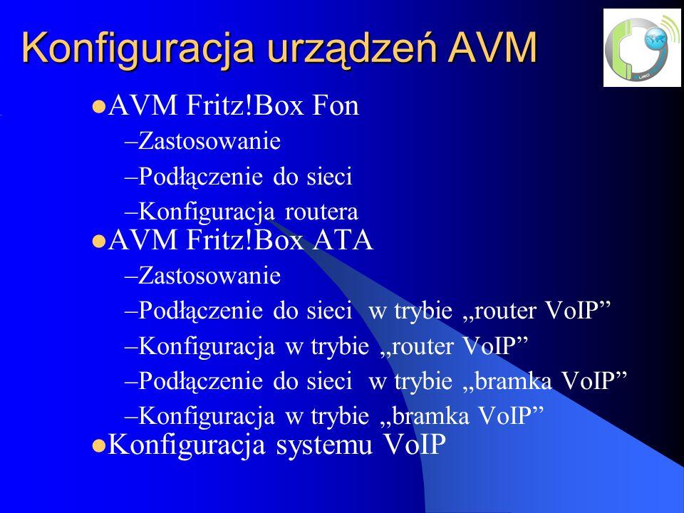 Konfiguracja urządzeń AVM