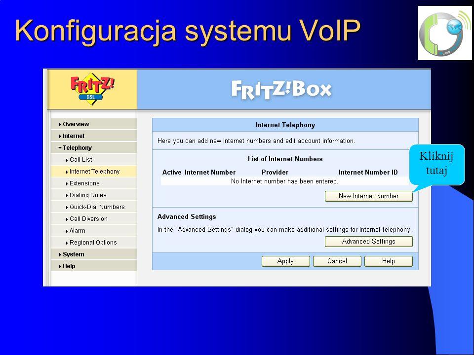 Konfiguracja systemu VoIP
