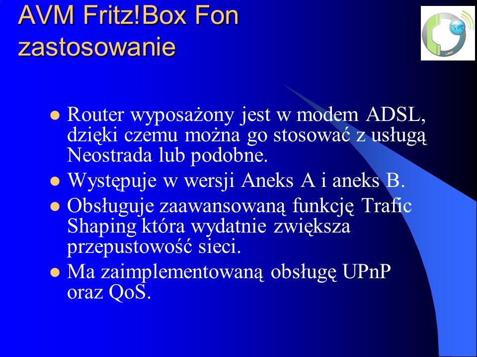 AVM Fritz!Box Fon zastosowanie