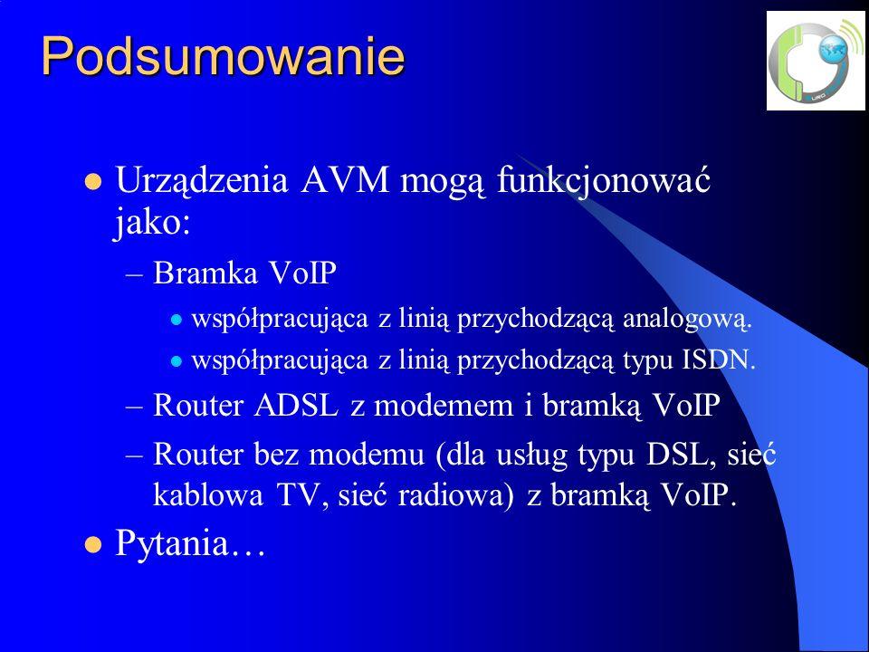 Podsumowanie Urządzenia AVM mogą funkcjonować jako: Pytania…