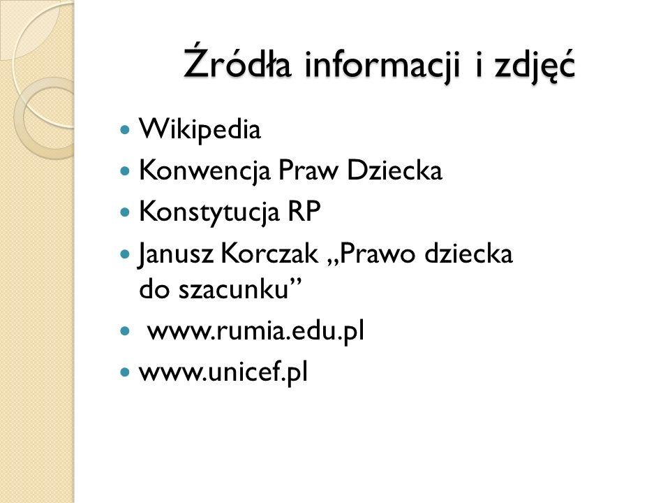 Źródła informacji i zdjęć