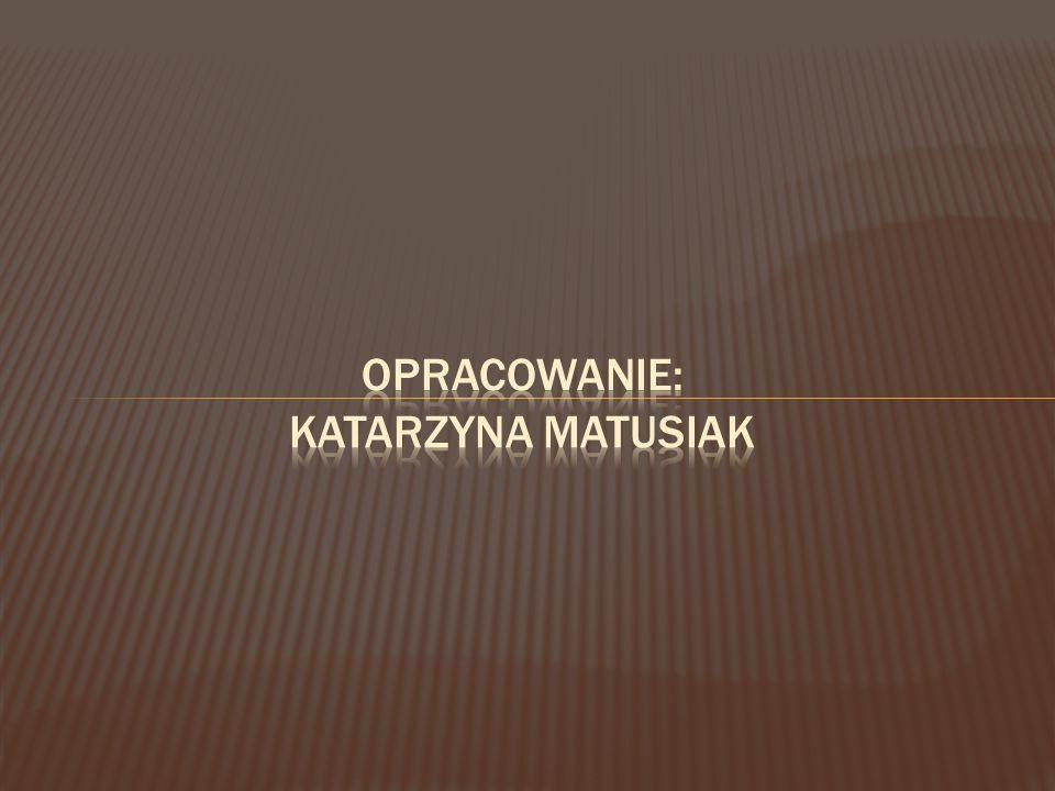 Opracowanie: Katarzyna Matusiak