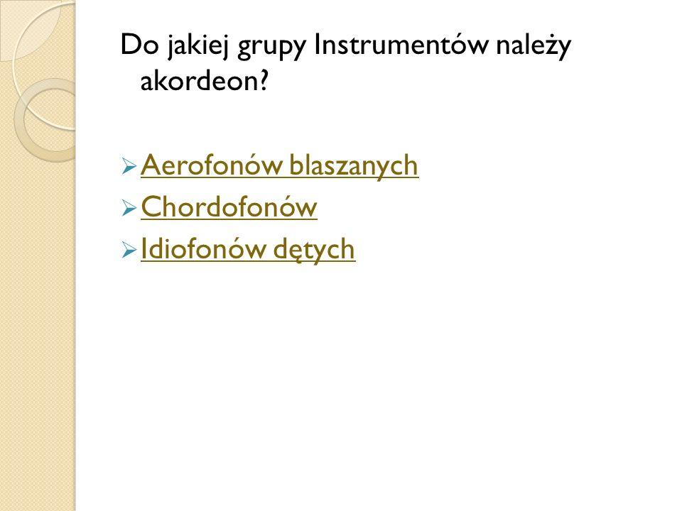 Do jakiej grupy Instrumentów należy akordeon