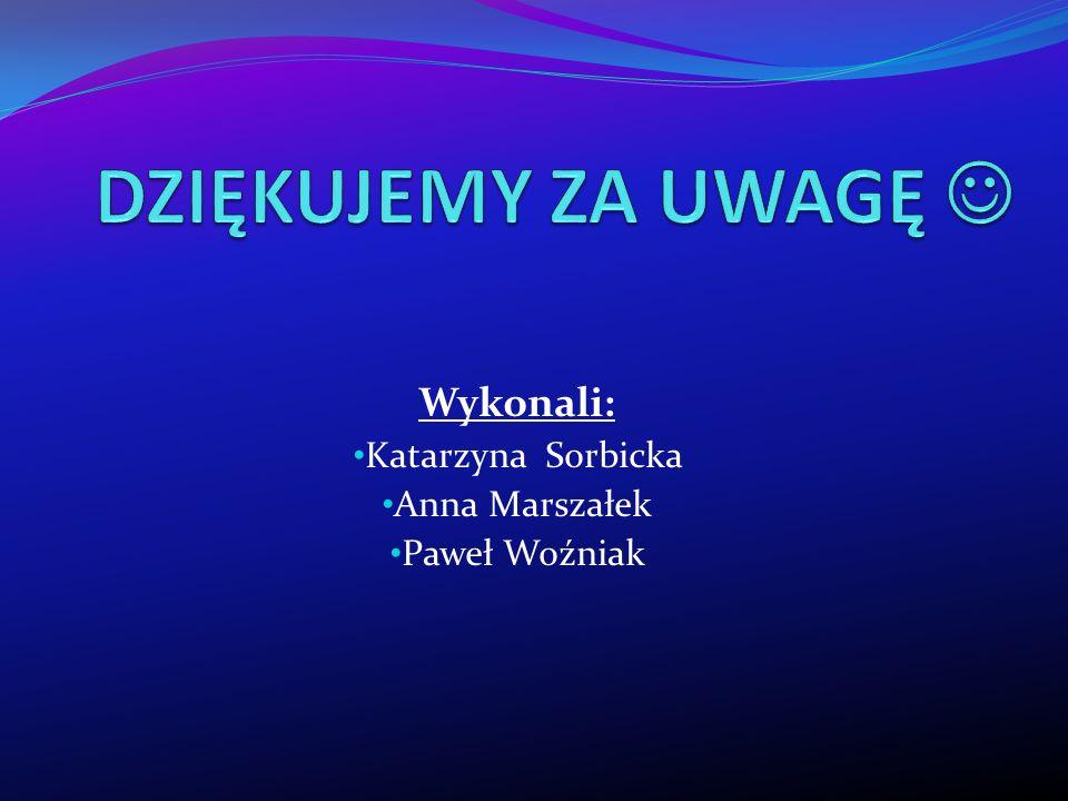 Wykonali: Katarzyna Sorbicka Anna Marszałek Paweł Woźniak