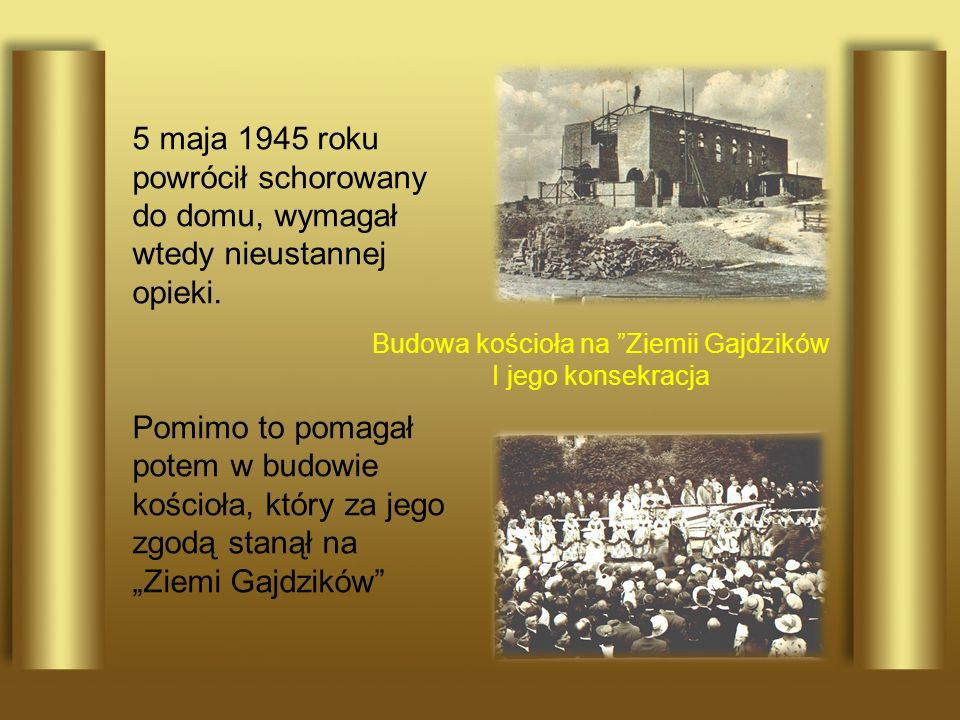 Budowa kościoła na Ziemii Gajdzików