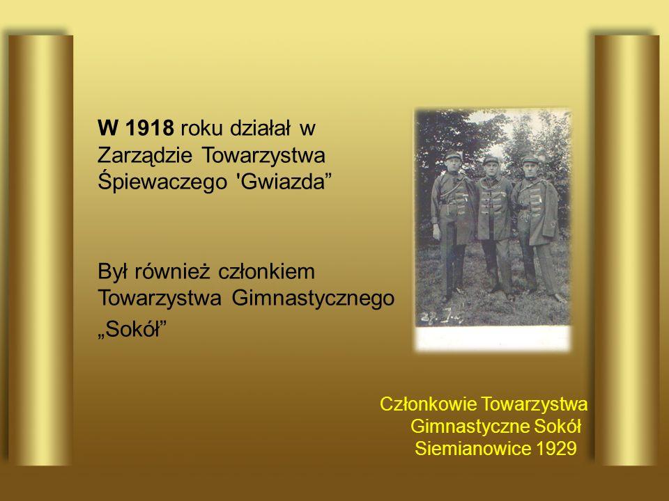 Członkowie Towarzystwa Gimnastyczne Sokół Siemianowice 1929